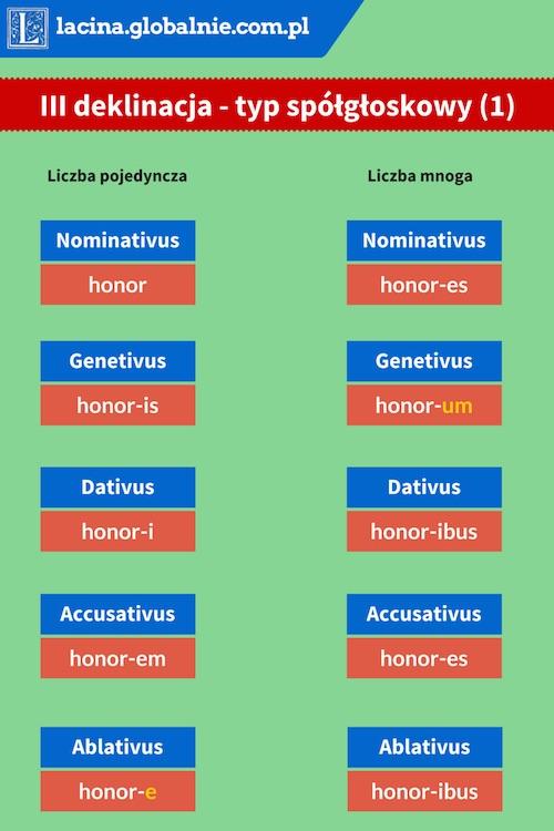 III deklinacja łacina
