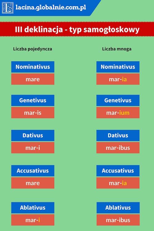 Łacina deklinacja 3 - typ samogłoskowy